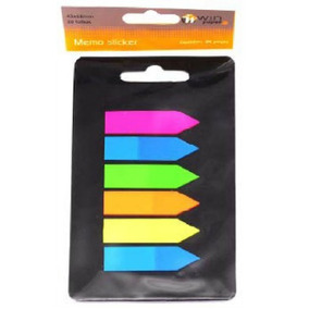 Marcador De Página Plástico Colorido Auto-adesivo 120un