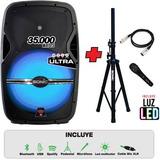 Parlante 70000 Watts Potente Sonido+micro+pedestal+bluetooth