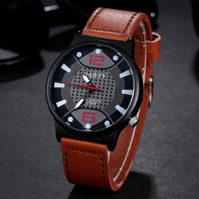 Relógio Masculino Gaiety Quartzo Pulseira Em Couro Promoção