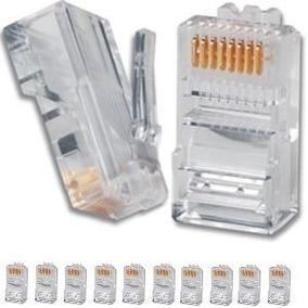 Conector Rj45 Plug Cabo De Rede Kit Pacote Com 1000 Unidades
