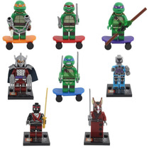 Kit Minifigures Tartarugas Ninjas Minifigures - 8 Bonecos