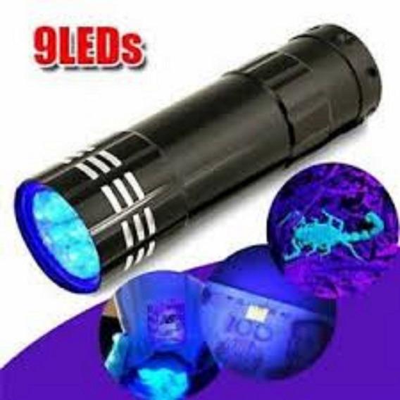 Linterna Luz Uv De 9 Leds Pilas Incluidas .