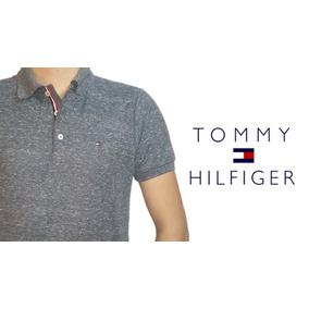 Tommy Hilfiger Polo Marino Jaspe (envio Gratis)