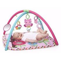 Tapete Com Móbile Atividade Brinquedo De Bebê Musica Espelho