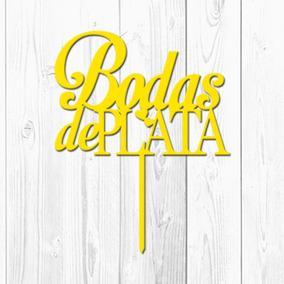 Adorno Para Torta Bodas De Plata (amarillo)