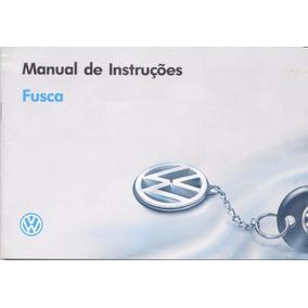 Manual Proprietário Vw Fusca Itamar 1993, 1994, 1995 E 1996.
