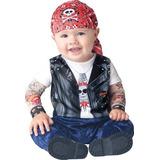 Disfraz De Motociclista Para Bebé Niño Talla 6 - 12 Meses