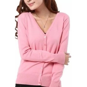 Blusa De Frio Feminina Casaco Cardigan Coloridos Kit 2 Peças