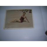 Antigua Foto Postal Punta Del Este R. De Cesare Mujer Playa