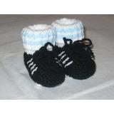 Los Primeros Botines Para Tu Bebe (escarpines Tejidos)9 A 12