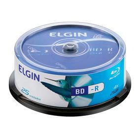 Bd-r Blu-ray Elgin Com Logo 25gb 25 Unidades