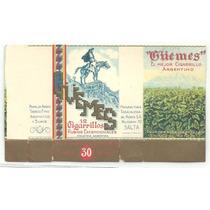 Marquillas De Cigarrillos Güemes (dos Distintas)