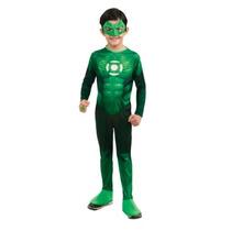 Green Lantern Hal Jordan Del Niño Traje - Un Color - Large
