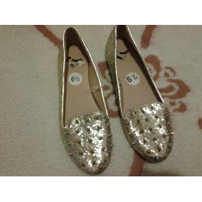 Zapato Importados Chatita Con Gliter Y Puas T37