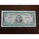 Billete Chile 50 Escudos Cano Molina (c-38-3