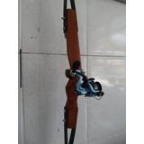 Arco E Flecha Para Pesca + 3 Flechas + Molinete + Suporte