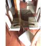 Combo Mesa Rectangular Vidrio + 6 Sillas De Pana