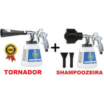 Kit Maquina Pistola Tornado Limpar Banco Carro Lava Rápido
