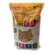 Granulado De Madeira Para Gatos Premium Like Cat 2 Kg