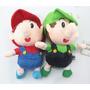 2pcs Encantadora Super Mario Bros Mario Poco & Poco Luigi P