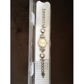 Reloj Swatch De Mujer Original Nuevo Lk292g Acero Plata