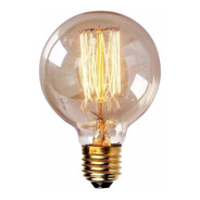 Lâmpada Vintage - Filamento De Carbono G80 - 40w 127v E27