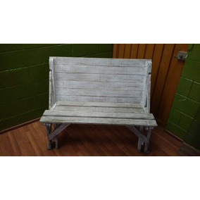 mesa banca de madera para terraza o jardn