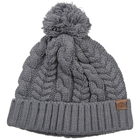 Timberland Womens Knit Watch Cap With Pom, Gray, One Size