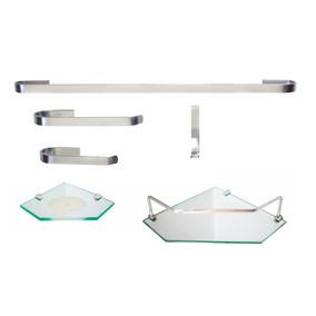 Kit Para Banheiro Onix 4 (6 Peças) - Frete Grátis