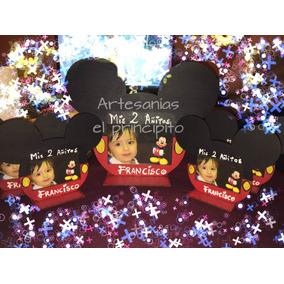 Souvenirs Porta Retrato Minnie / Mickey, Con Foto.