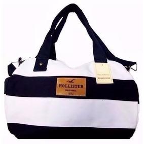 Bolsa Hollister Original - Mala Viagem Bordo Grande Listrada