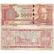 Billete Paraguay 5000 Guaranies Año 2008 Sin Circular