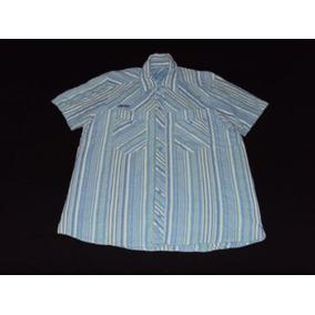 Camisa Stone Mangas Cortas Rayada Talle L