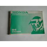 Manual De Usuario / Mantenimiento De Honda Xr 200r 1994
