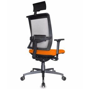Cadeira Presidente Web Em Tela Apoia Cabeça E Base Rhodes
