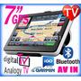 Gps 7 Pulgadas Hd 8gb Sis Igo Tv Dig Bluet Incl Bolivia Mapa