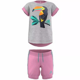 Conjunto Playera Con Short Summer Girls Niña adidas Ak2623