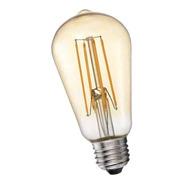 Lampara Led Vintage 8w Filamento E27 Calida St64 Interelec