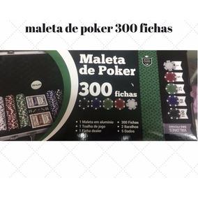 Maleta Poker 300 Fichas Com Numeração Completo Barato