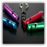 Silbato Emergencia Rescate Alpinismo De Aluminio 110 Db