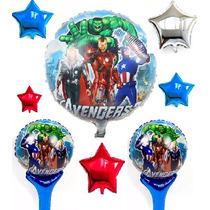 Globos Avenger Metálicos,gas Helio,spider Man,capitán Hulk,