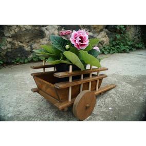 Carretas de madera para flores en mercado libre m xico for Carretas de madera para jardin