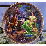 Plato Decorativo Porcelana Hans Zatzka Pintor Austriaco