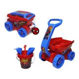 Carro Con Accesorios De Playa Spiderman