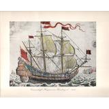 Lámina Antigua / Barco (1686)