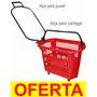Cesta Com Rodas Cestinha Rodinhas Carrinho De Supermercado