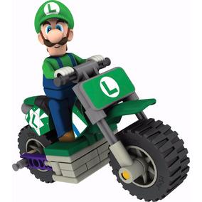 Boneco Mario Kart Luigi Standard Bike Lego 31 Pcs
