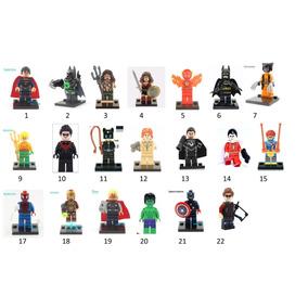 Lego 5 Bonecos Formiga Ferro Wolverine Thor Flash Batman