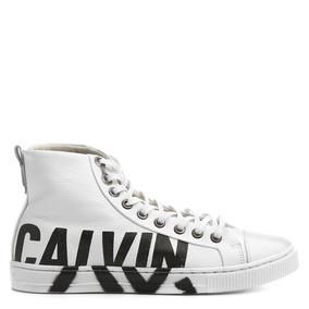 Tenis Feminino Calvin Klein Cano Alto Couro 100%original Bc