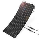 Allpowers 100w 18v 12v Kit De Cargador De Panel Solar Flexi